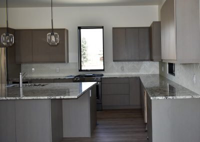 Fresh modern kitchen in light greys